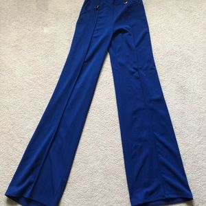 High waisted Flare Pants With Gold Buttons